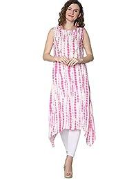 Srishti by FBB Printed Sleeveless Kurta Pink