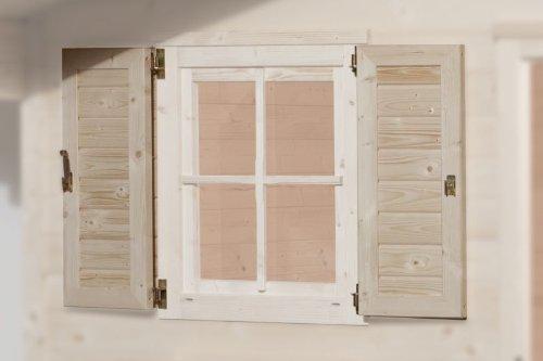 Fensterladen (2-seitig) für Fenster 69 x 79 cm