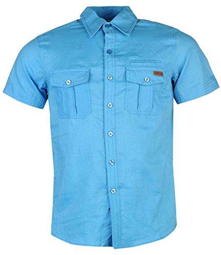 Lee Cooper -  Camicia Casual  - Uomo Blue Large