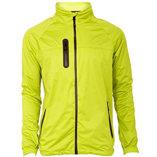 2015 Cutter & Buck WeatherTec Full Zip Mens Golf Waterproof Jacket Lime XL