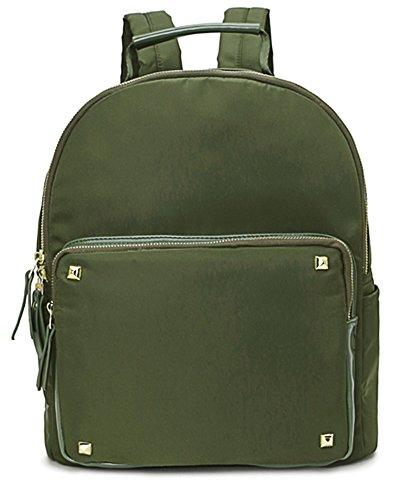 Big Handbag Shop , Damen Rucksackhandtasche Design 2 - Army Green