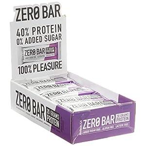 41u0XV8U2XL. SS300 ZERO Bar 20 * 50 g Prugna al cioccolato - Barretta proteica - senza zucchero, privo di lattosio, senza glutine…