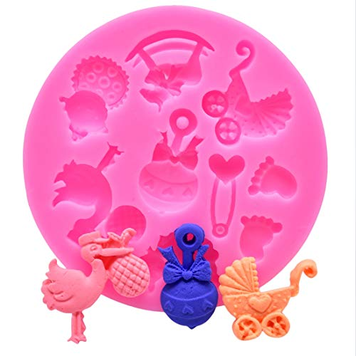 Cake Molds - Baby Shower Party Toys Chocolate Cake Decorating Diy Trojan Horse Carriage Baking Mould Silicone - Unicorn Lotus Vase Pendant Oval Molds Jelly Pack Making Paste Coaster Nightm Oval Chocolate Mold