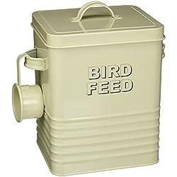 Lesser and Pavey Home Sweet Home - Recipiente para comida para pájaros, color beige