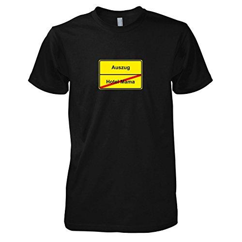 Sohn Und Mama Kostüme (TEXLAB - Schluss mit Hotel Mama Schild - Herren T-Shirt, Größe L,)