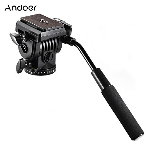 Andoer abs 360° arrastre fluida testa di azione video ammortizzatori idraulica panorama testa fotografica per canon treppiede sconosciuto