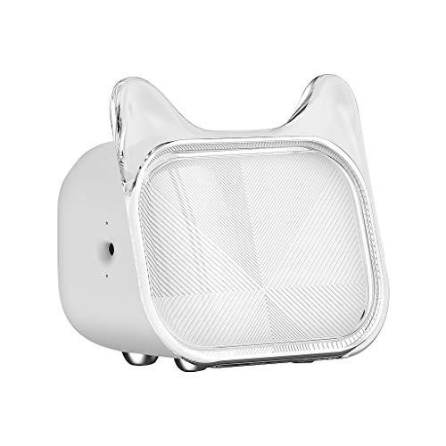 Bluetooth Lautsprecher Speaker, Nourich BT 5.0 Spieler USB Radio Fm Lauter Stereo Sound Süße Katze mit Fotorahmen Sprecher Speaker für Indoor/Outdoor, Wireless, starker Akku, Mehrfarbig (Weiß)