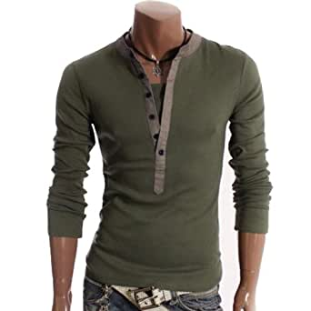 Luxury Stylish Mens Slim Fit Long Sleeve Casual T-Shirt Shirt Top 6 Color 3716