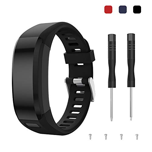 kytuwy Armband vivosmart hr, Uhrenarmband Ersatzarmband Zubehör Verstellbares Weiches Silikon Bracelet Sport Armbanduhren Entwickelt für Garmin Vivosmart HR