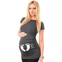 HCFKJ Femme Enceinte VêTements Grossesse InfirmièRe à Manches Courtes Pour  Femmes Enceintes De Grossesse Maternité T fb897a6a6fbd