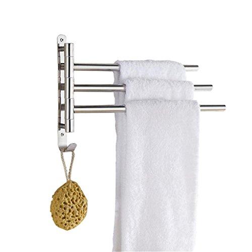 ZXLIFE@Küche Handtuch Bar 304 Edelstahl Ausschwenken Handtuch Bar 5-bar Klapparm Schwenken Aufhänger Badezimmer Lagerung Veranstalter Rostfrei Wandhalterung , 304 lever -3 lever