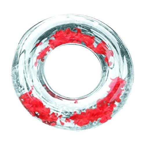 Steellwingsf Aufblasbares Schwimmbecken Strand Floating Rafts Schwimmring Circle Wasser Relax Spielzeug, PVC, rot, 120 cm