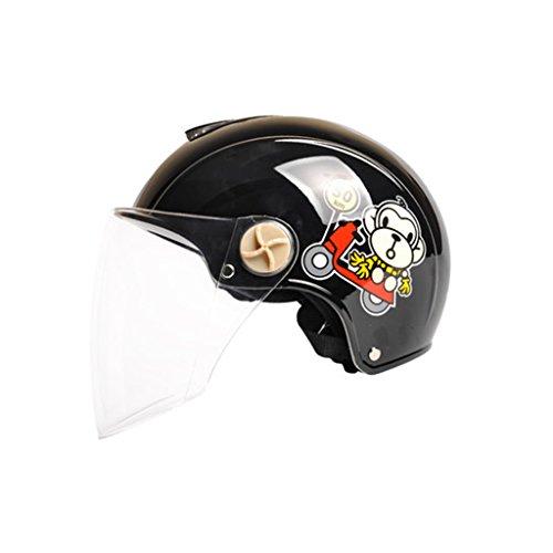 Cascos de motocross Four Seasons Half Helmet Ms. Casco general del sol de verano casco de la motocicleta casco eléctrico masculino casco de la batería del coche casco (Color : A-One size)
