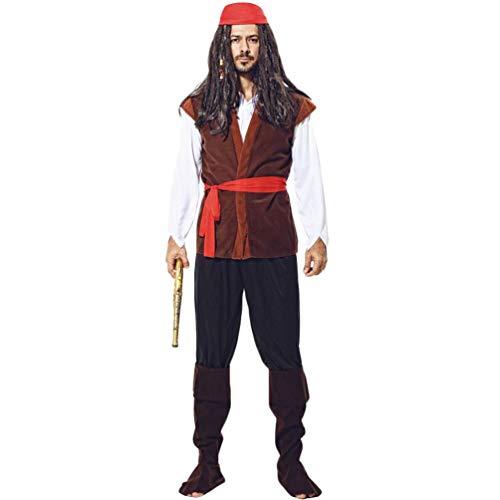 Herren Piraten Outfit - YuanDian Herren Damen Paare Halloween Pirat