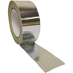 Paquete No1 190288 1 rollo de cinta multipropósito aislante de aluminio de 48mm x 45m en color plata brillante.