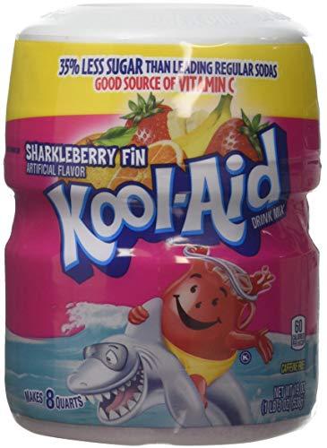 Kool Aid Sharkleberry Fin Drink Mix Makes 8 Quarts 538g Tub Kool-Aid
