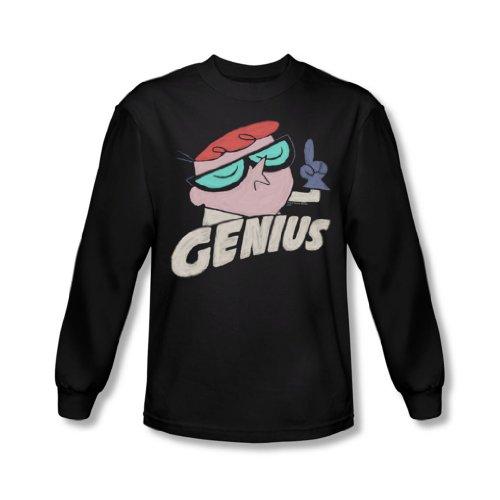 Dexter's Laboratory - Dexters Labor - Herren Langarm-Shirt Genius In Black Black