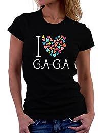 I love Ga Ga colorful hearts Women T-Shirt