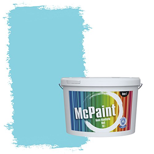 McPaint Bunte Wandfarbe Himmelblau - 5 Liter - Weitere Blaue Farbtöne Erhältlich - Weitere Größen Verfügbar