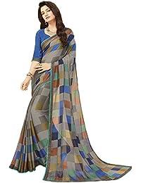 Glory Sarees Women's Printed Criva Crepe Saree(FT6004B_Multi-Coloured)