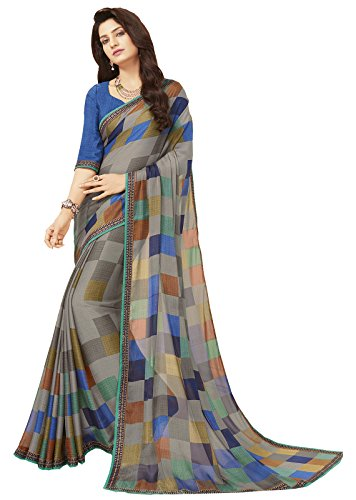 Glory Sarees Women's Printed Criva Crepe Saree(FT6004B_Multi-Coloured)