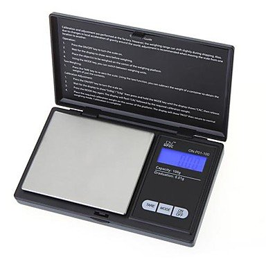 Todwish 100 g * 0,01 g Mini-LCD-Digital Pocket Schmuck Gold Diamant-Skala Gram