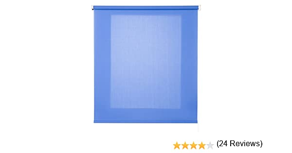 Colore Blu 75x6x175 cm Blu Estores Basic Tenda avvolgibile Trasparente
