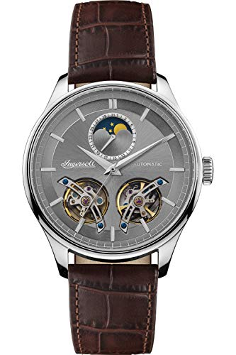 Ingersoll The Chord Reloj para Hombre Analógico de Automático con Brazalete de Piel de Vaca I07201