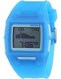 Nixon Lodown II Translucent Blue - Reloj de cuarzo para hombre, correa de plástico color azul
