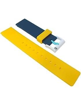 Q&q SmileSolar Ersatzarmband Uhrenarmband Kunststoff Band 20mm 26511