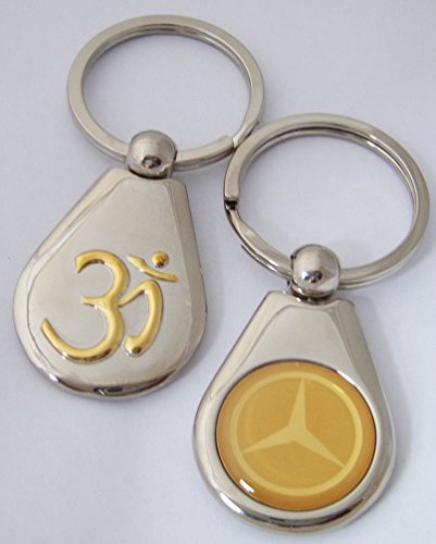 hindu-om-emblem-with-mercedez-benz-key-ring