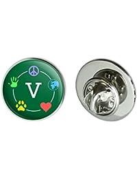 "Vegan Values Circle Metal 0.75"" Lapel Hat Pin Tie Tack Pinback"