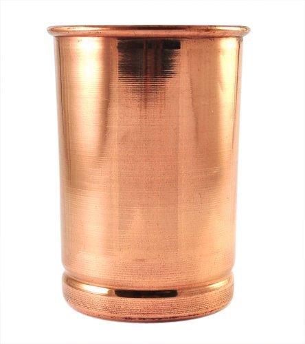 fabriqué à la main en cuivre pur Verre Uni Motif 250 ml chaque, Cuivre, Lot de 2