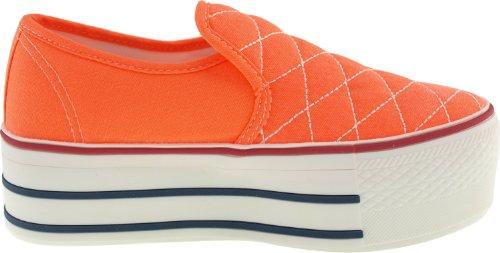 Maxstar  C50-Stitch,  Damen Sneaker Low-Tops Neon Orange