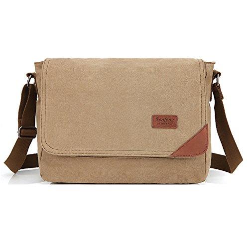 ... Tablet Sport Tasca Canvas Messenger Bag Beige. Outreo Tracolla Uomo  Borsa per Scuola Borsello Vintage Borse a Spalla di Tela Sacchetto Studenti  Borsetta 3386252e1f3