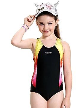Peacoco Traje de baño para niña Bañador de entrenamiento para Youth Body de competición Bañador para niña Tamaños...