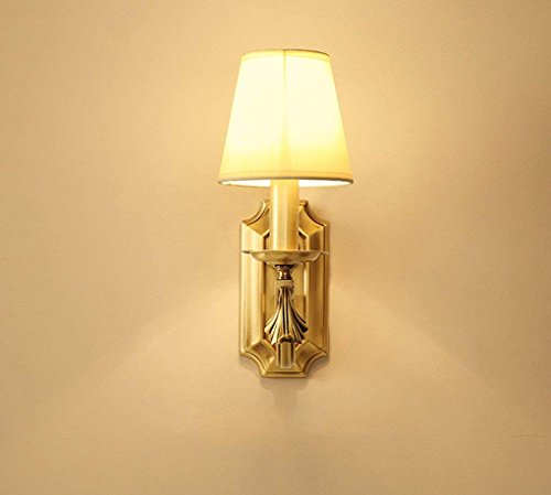 Specchio delle luci anteriori, american village lampada da parete a tutte le camere da letto in bronzo luci lampada sul comodino specchio luce anteriore in stile europeo semplice soggiorno testa singola lampada da parete e14 impermeabile, anti-nebbia