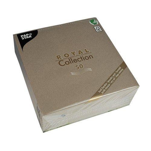 "Papstar Servietten / Tissueservietten grau ""Royal Collection"" (50 Stück) 40 x 40 cm, 1/4-Falz, ideal geeignet für Gastronomie, Haushalt oder Feste, FSC-zertifiziertes Material #10822"