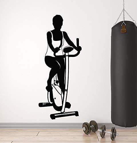 yaonuli Bodybuilding Fitness Enthusiast Sport Vinyl Wandaufkleber Fitness Club Frau Fitness Schlafzimmer Heimtextilien 57x47cm