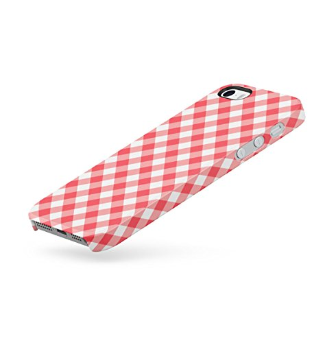 Golden Chevron Zigzag Pattern Print Apple iPhone 5 , iPhone 5S , iPhone SE Snap-On Hard Plastic Protective Shell Case Cover Custodia Red Vintage Cloth