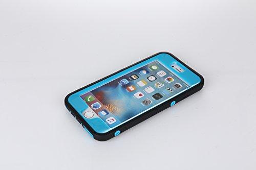 ARTLU® iphone 6/6s hülle [Rüstungs Series] [2en1 Color Mix Design] Hülle leichtgewicht stoßfest Armor Case mit Ständer Cover Schutzhülle für iphone 6/6s Dual Layer Rüstungs Case Robust Anti-stoß Kratz Blue