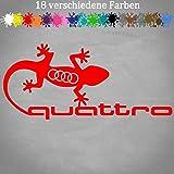 Quattro Sticker Gecko 20 x 9 cm Autocollant pour voiture A4 A6 Q5 B3 B2