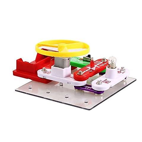 Arshiner Elektronik-Baukasten Elektronik Set elektronische Bausteine DIY Explosion Modelle Lernspielzeug (Wissenschaft Experimente Licht)