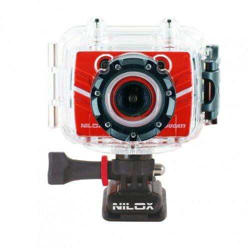Nilox 13NXAKFH00002 Foolish Ducati Action Cam Full HD, Schermo Incluso, Rosso