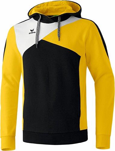 erima Top a maniche lunghe con cappuccio adulto nero/giallo/bianco