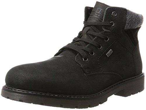 Rieker Herren F4030 Klassische Stiefel, Schwarz (Schwarz/Schwarz/Granit/Schwarz), 45 EU