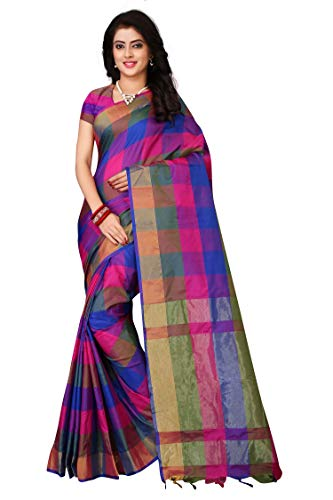 Leriya Fashion Cotton Silk Saree for Women's With Blouse Piece Material. (S1100)