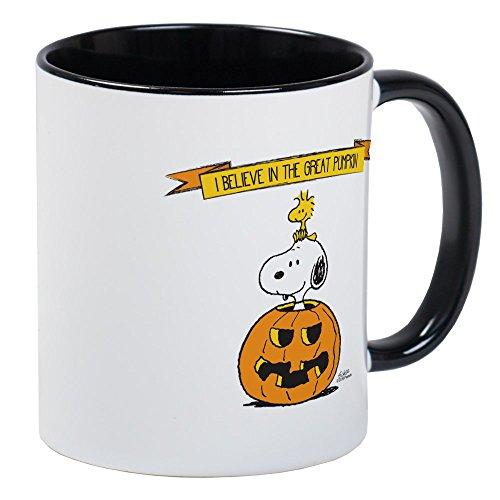 CafePress Peanuts Believe Tolles Kürbis Tassen, Kaffee Tee Tasse Small White/Black Inside