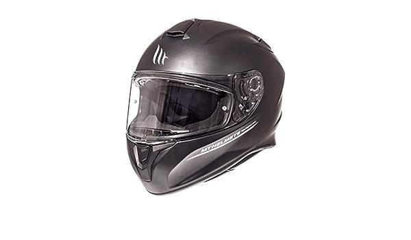 MT Targo Full Face Motorcycle Motorbike Helmet Plain Matt Black XS