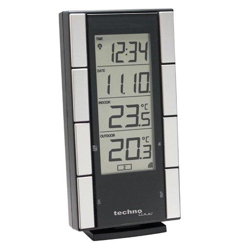 Technoline Wetterstation WS 9765-IT mit Funkuhr und Innen- und Außentemperaturanzeige